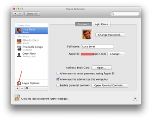 Adding users in OS X