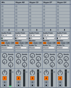 Input channels in Live